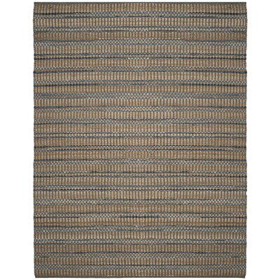 Bowen Hand-Woven Brown/Blue Area Rug Rug Size: 8' x 10'