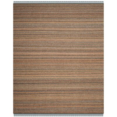 Sojourn Hand-Woven Orange/Blue Area Rug Rug Size: 8 x 10
