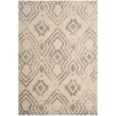 Amicus Gray/Beige Area Rug Rug Size: Rectangle 9 x 12