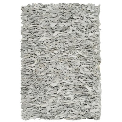 Sorrel Leather Hand-Knotted Gray/White Area Rug Rug Size: 5 x 8