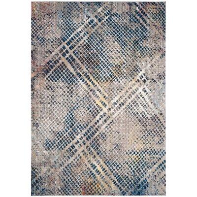 Jasper Blue/Beige Area Rug Rug Size: 4 x 6