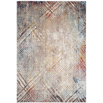 Jasper Gray/Gold Area Rug Rug Size: 3 x 5