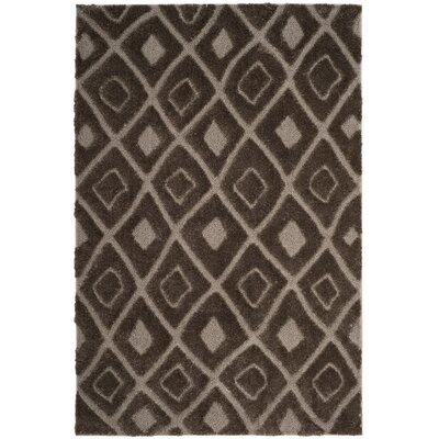 Helms Brown/Beige Area Rug Rug Size: Round 67