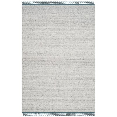 Sojourn Hand-Woven Gray/Ivory Area Rug Rug Size: 4 x 6