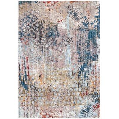 Jasper Blue/Beige Area Rug Rug Size: 51 x 76