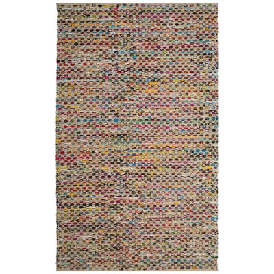 Bowen Hand-Woven Green/Red Area Rug Rug Size: 6 x 9