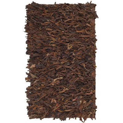 Sorrel Leather Hand-Knotted Brown Area Rug Rug Size: 3 x 5