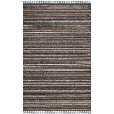 Sojourn Hand-Woven Gray/Purple Area Rug Rug Size: 5 x 8