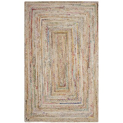 Bowen Hand-Woven Beige/Yellow Area Rug Rug Size: Rectangle 4 x 6
