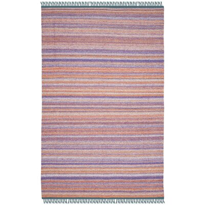 Sojourn Hand-Woven Purple/Orange Area Rug Rug Size: 4 x 6