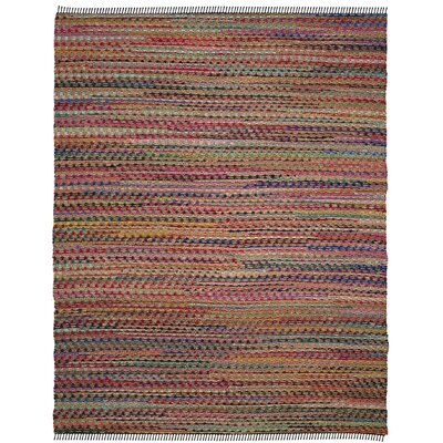 Bowen Hand-Woven Pink/Red Area Rug Rug Size: Rectangle 8 x 10