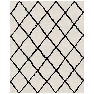 Lindsay Hand-Tufted Off-White/Black Area Rug