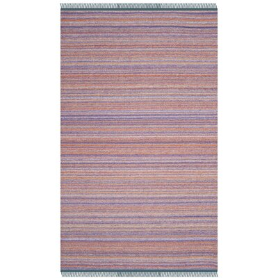 Sojourn Hand-Woven Purple/Orange Area Rug Rug Size: Rectangle 5 x 8
