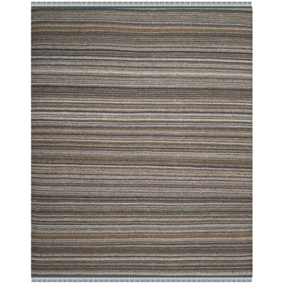 Sojourn Hand-Woven Brown/Blue Area Rug Rug Size: 8 x 10
