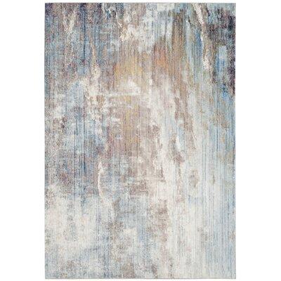 Jasper Blue/Ivory Area Rug Rug Size: 9 x 12