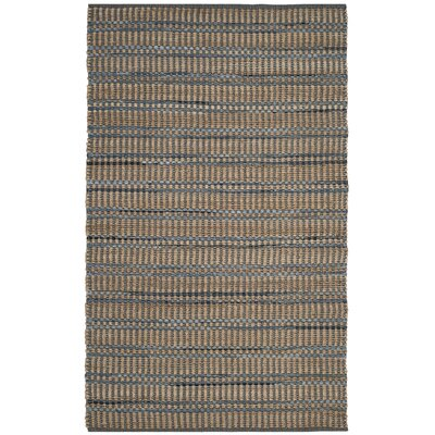 Bowen Hand-Woven Brown/Blue Area Rug Rug Size: 5 x 8