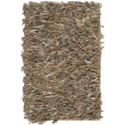 Albany Hand-Knotted Light Brown Area Rug Rug Size: Square 5