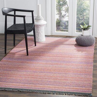 Kilim Hand-Woven Purple/Rust Area Rug