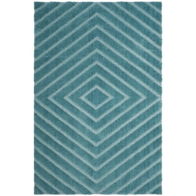 Helms Blue Area Rug Rug Size: Rectangle 8 x 10