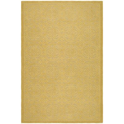Cambridge Hand-Tufted Wool Gold Area Rug Rug Size: Rectangle 6 x 9