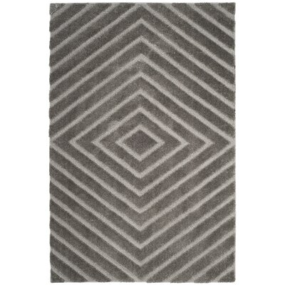 Helms Brown/Gray Area Rug Rug Size: 51 x 76
