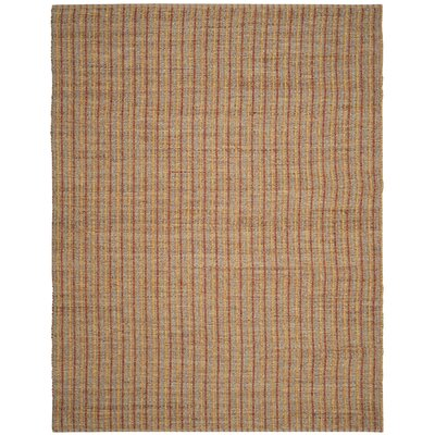 Bowen Hand-Woven Orange/Brown Area Rug Rug Size: 8 x 10