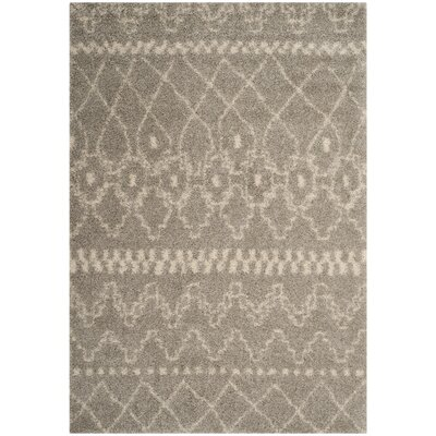 Amicus Gray/Ivory Area Rug Rug Size: Rectangle 4 x 6