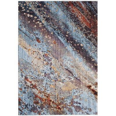 Jasper Purple/Blue Area Rug Rug Size: 51 x 76