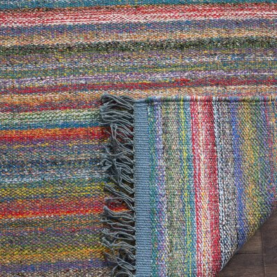 Sojourn Hand-Woven Blue/Orange Area Rug