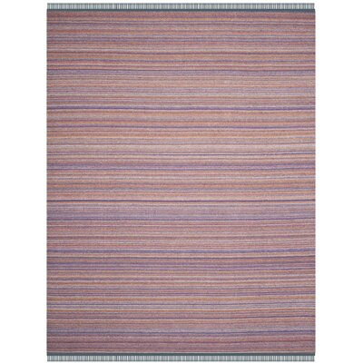Sojourn Hand-Woven Purple/Orange Area Rug Rug Size: 8 x 10