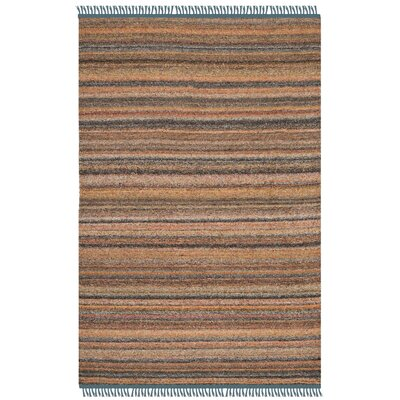 Sojourn Hand-Woven Orange/Blue Area Rug Rug Size: 4 x 6
