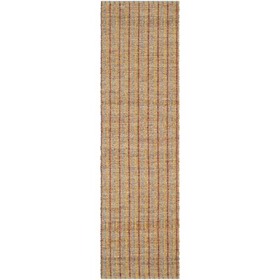 Bowen Hand-Woven Orange/Brown Area Rug Rug Size: Runner 23 x 8