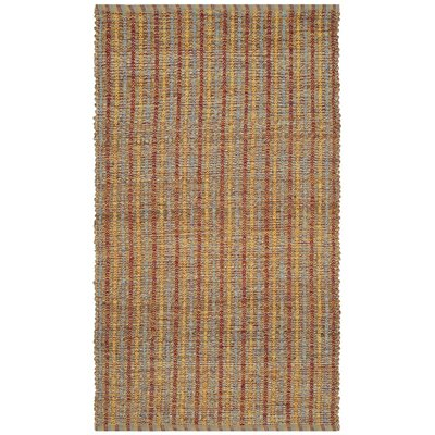 Bowen Hand-Woven Orange/Brown Area Rug Rug Size: Rectangle 3 x 5