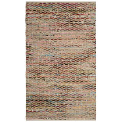 Bowen Hand-Woven Green/Red Area Rug Rug Size: 4 x 6