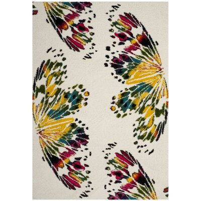 Helmuth Red/Yellow Area Rug Rug Size: 67 x 92