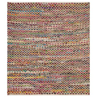 Bowen Hand-Woven Natural/Green Area Rug Rug Size: Square 6