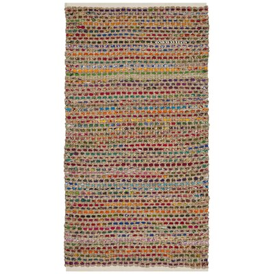 Bowen Hand-Woven Green/Red Area Rug Rug Size: 3 x 5