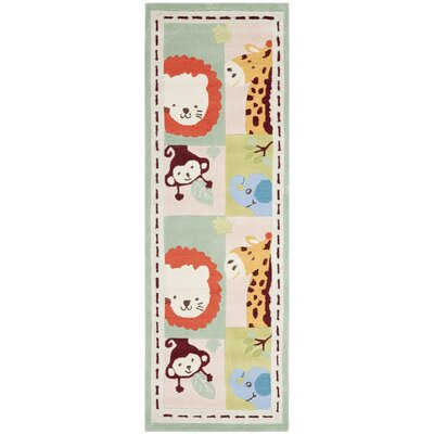 Claro Multi-color Kids Rug Rug Size: Runner 23 x 7