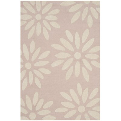 Claro Daisy Hand-Tufted Pink/Ivory Area Rug Rug Size: 8 x 10