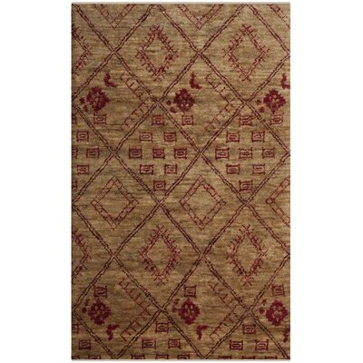 Parisi Hand-Knotted Natural Area Rug Rug Size: Rectangle 4 x 6