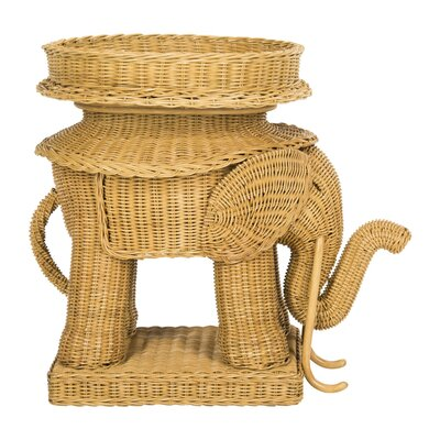 Frazier Elephant Rattan End Table Finish: Natural