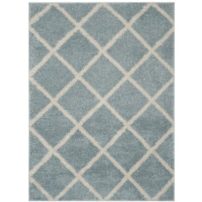 Helsel Blue Area Rug Rug Size: Rectangle 8 x 10