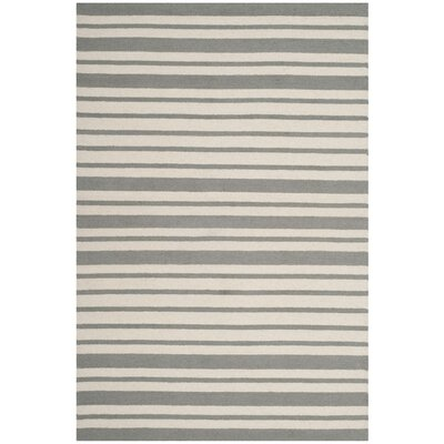 Claro Barcode Hand-Tufted Gray Area Rug Rug Size: Square 5