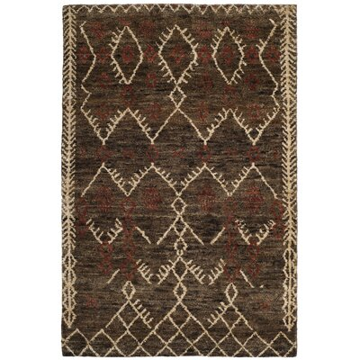Parisi Hand-Knotted Dark Brown Area Rug Rug Size: 5 x 8