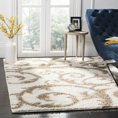Blanche Ivory/Beige Area Rug Rug Size: 3 x 5
