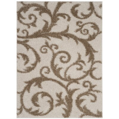 Blanche Ivory/Beige Area Rug Rug Size: Rectangle 51 x 76