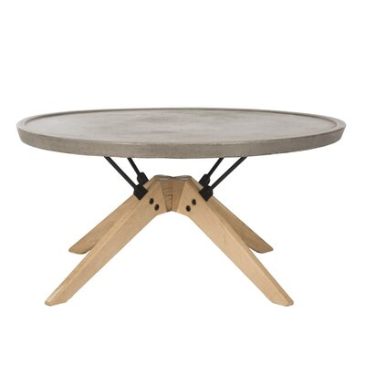 Ashleigh Round Concrete Coffee Table