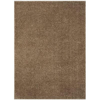 Helsel Dark Beige Area Rug Rug Size: Rectangle 51 x 76
