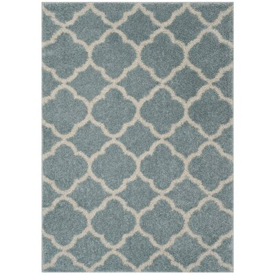 Helsel Blue Area Rug Rug Size: Rectangle 4 x 6