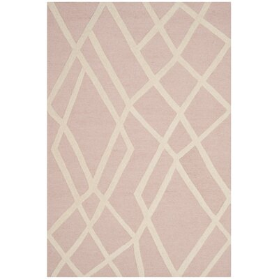 Claro Abstract Hand-Tufted Pink Area Rug Rug Size: 6 x 9